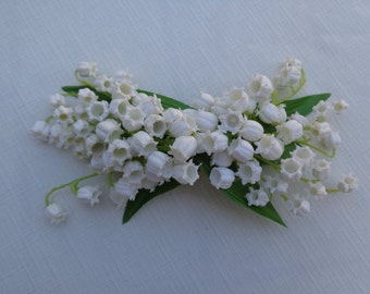 Hair flower in Lily of the Valley