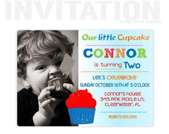 Cupcake Invitations, Cupcake Invitation, Cupcake Birthday Invitations, Cupcake Party Invitations, Cupcake Decorating Party Invitations :343