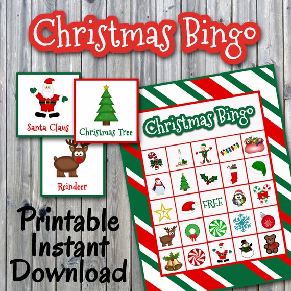 This is a photo of Witty Free Printable Christmas Bingo Cards for Large Groups