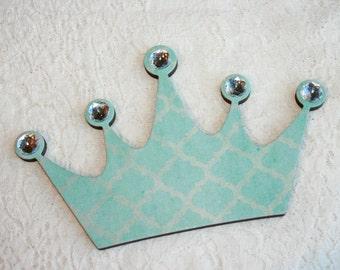 Aqua Princess crown wall decor, Diva Princess crown, Wall decor for girls room
