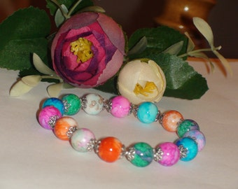 Gemstone  bracelet.Stretchy bracelet.Multicolored bracelet.
