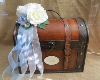 Pick your decoration - Very Large Wedding Trunk, Wedding Card Holder, Card Box, Money Holder, Wedding Suitcase, Rustic Wedding Trunk