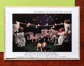 Night Circus Funny, Photo Greeting Card: Humorous