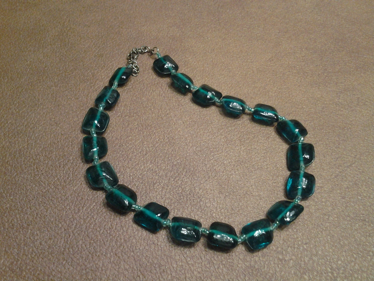 Inexpensive bling turquoise colored square plastic beaded for Turquoise colored fashion jewelry