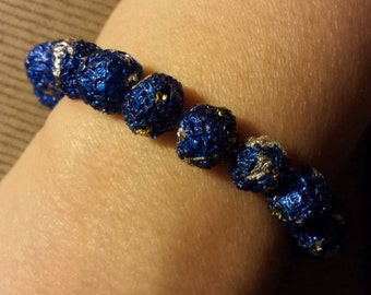 Candy wrapper bead bracelet