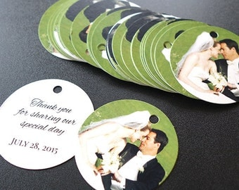 Personalized Wedding Thank You Gift Tags (Round Tags)
