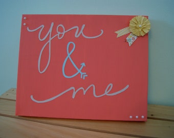 Valentine's gift. you and me. couple canvas. I love you. 8x10. made to order.