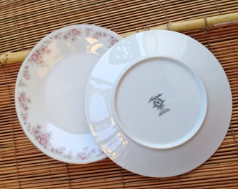Noritake Marion 6951 bread and butter salad plates pink flower fine bone china