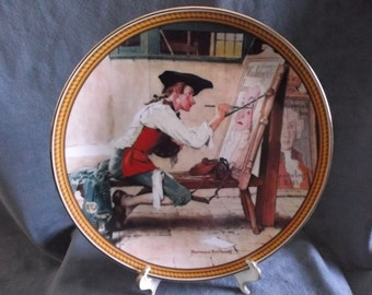 "Vintage Knowles Norman Rockwell Collectors plate "" Sign of the Times"" 1988"