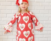 Valentine's Day Dress Baby Toddler Girls Red Heart Boutique Clothing By Lucky Lizzy's