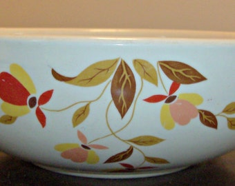 Vintage Jewel Tea Autumn Leaf Serving Dish Bowl