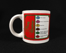 Vintage Trivial Pursuit Christmas Mug by Horn Abbot 1985 New In Box