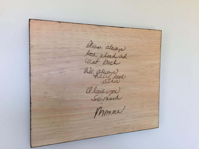 11 x 14 personnalis bois br l criture sur une plaque. Black Bedroom Furniture Sets. Home Design Ideas