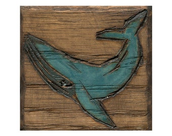 Blue Whale Art Print, Whale Art, Nautrical Wall Art, thepaintedgrove