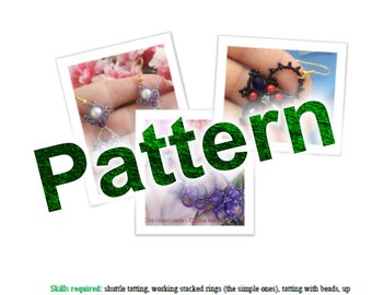 Tatting pattern for the pair of earrings Lilly