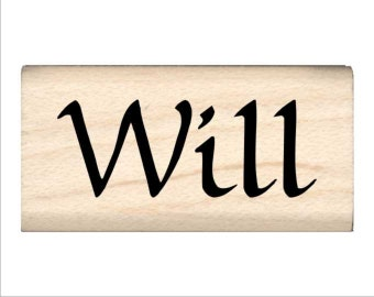 Will - Name Rubber Stamp for Kids