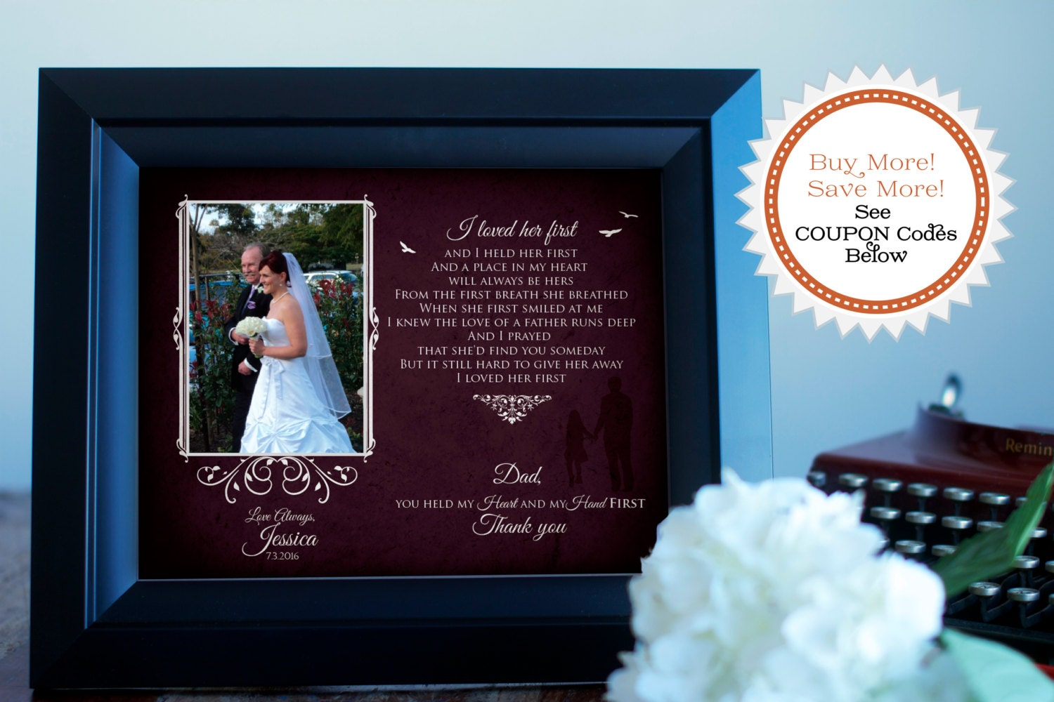 Wedding Gifts For Father Of Bride : Wedding Gift For Father of the Bride Thank you Dad Gift I