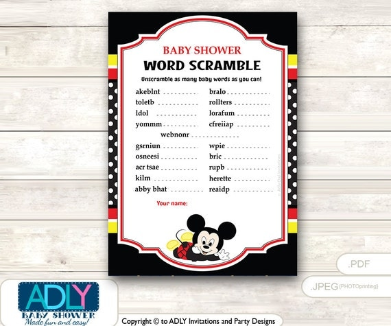 game guess words unscramble the words game mickey mouse shower diy