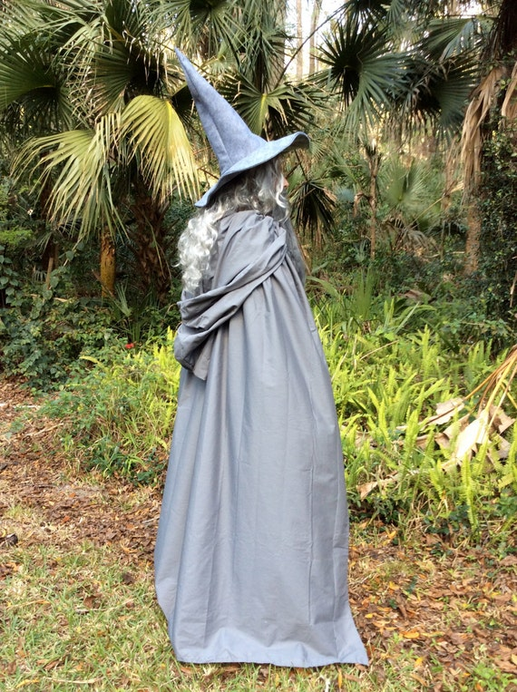 Gandalf The Gray or White Costume Flowing hooded Cape and Robe