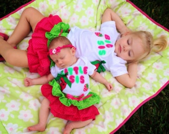 Big Sis-Little Sis Strawberry outfit