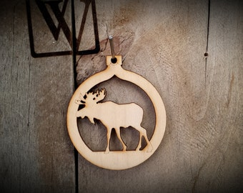 Moose Cutout Ornament