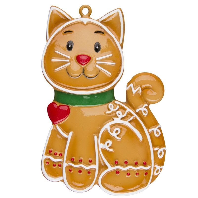 FREE SHIPPING Personalized Christmas Ornament Gingerbread