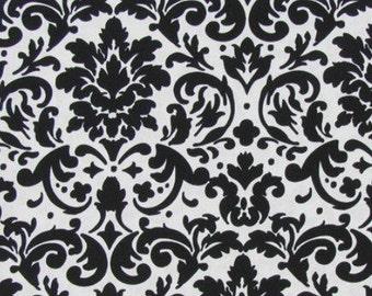 Black damask ruffle pants