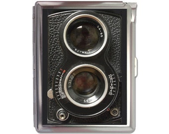 Vintage Camera Retro Cigarette Case Lighter Wallet Business Card Holder