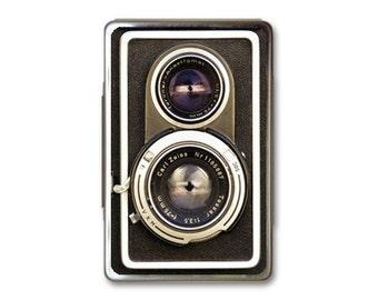 Vintage Camera Retro Metal Box Case