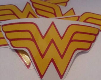 Wonder Woman Party Favor Vinyl Stickers