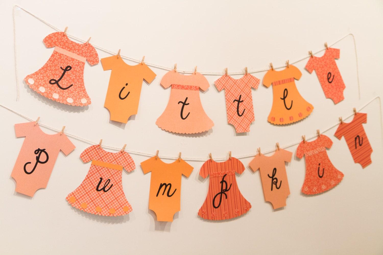 little pumpkin banner baby shower birthday banner