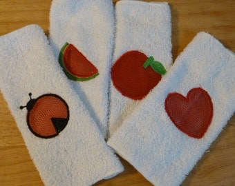 A Set of Two Cotton Dishcloth Scrubbies