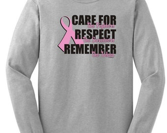 Care For the Fighters (Breast Cancer Awareness) Long Sleeve T-Shirt 2400 - CA-230