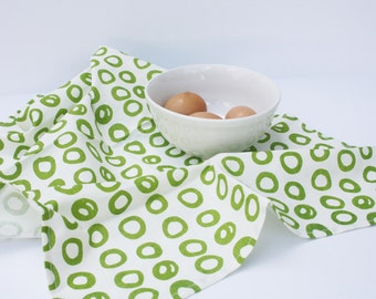 Organic Tea Towel // Eco-friendly Tea Towel for Her // Organic Kitchen Towel // Ecofriendly Dish Towel