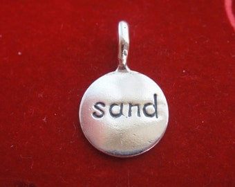 """925 sterling silver oxidized """"SAND"""" Disc, , silver disc """"SAND"""", silver disc"""