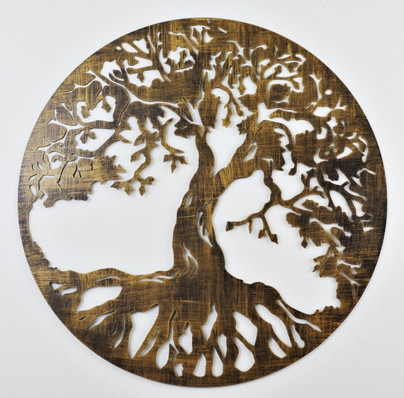 tree of life wall decor by moonladders on etsy. Black Bedroom Furniture Sets. Home Design Ideas