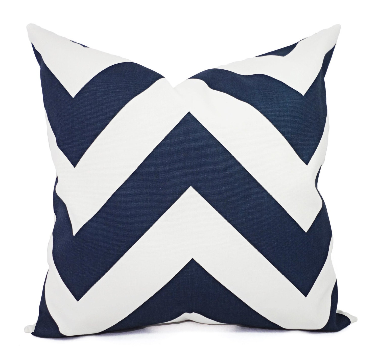 Navy Blue Throw Pillow Covers : Blue Decorative Pillow Covers Two Navy by CastawayCoveDecor
