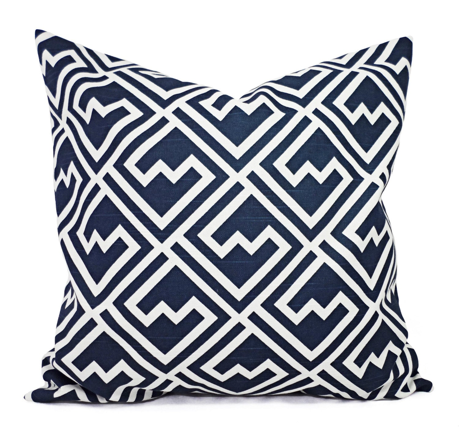 Navy Blue Pillow Shams Two Navy and White by CastawayCoveDecor