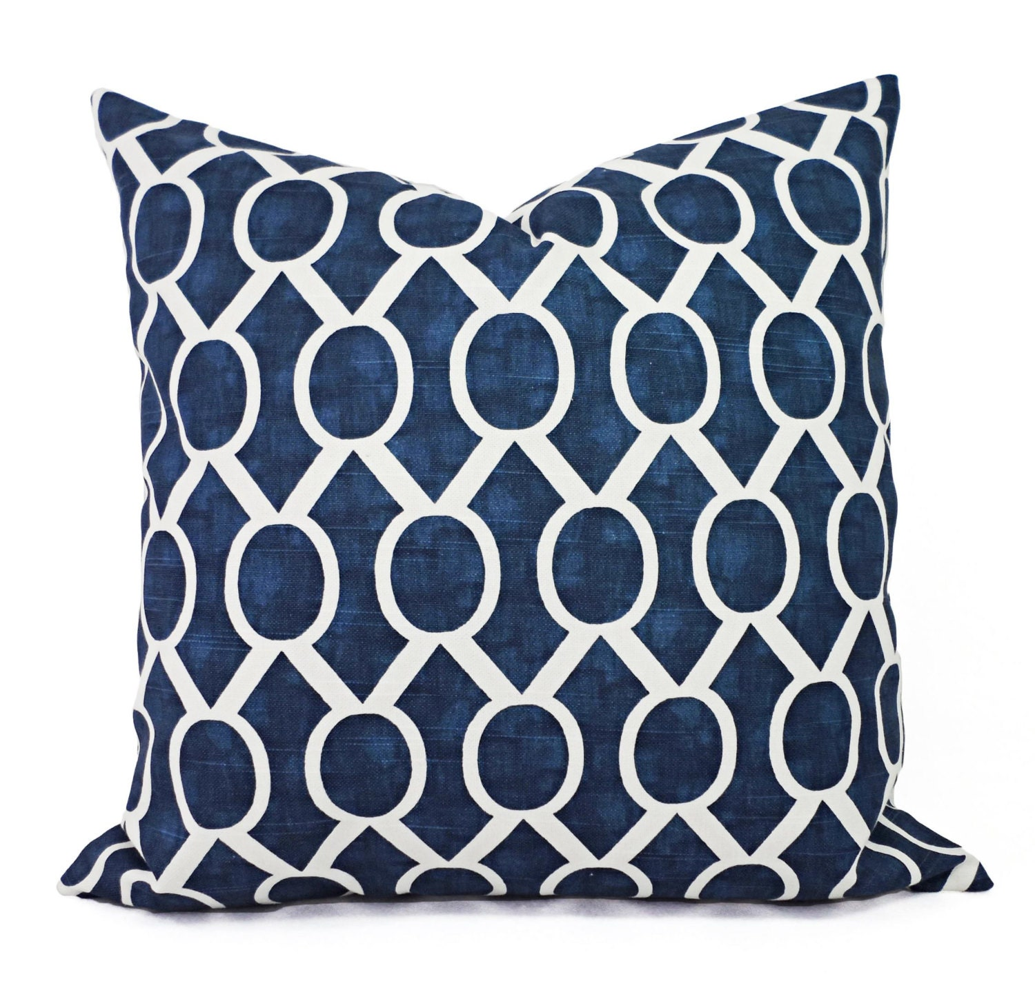 Navy Blue Decorative Pillows Two Navy Throw by CastawayCoveDecor