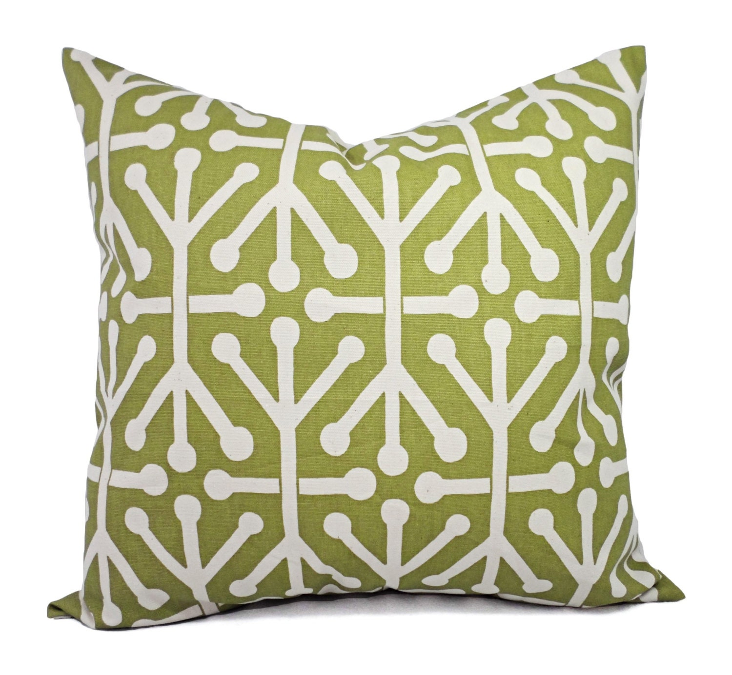 Decorative Lumbar Pillows Green : Green Decorative Pillow Covers Two Green by CastawayCoveDecor