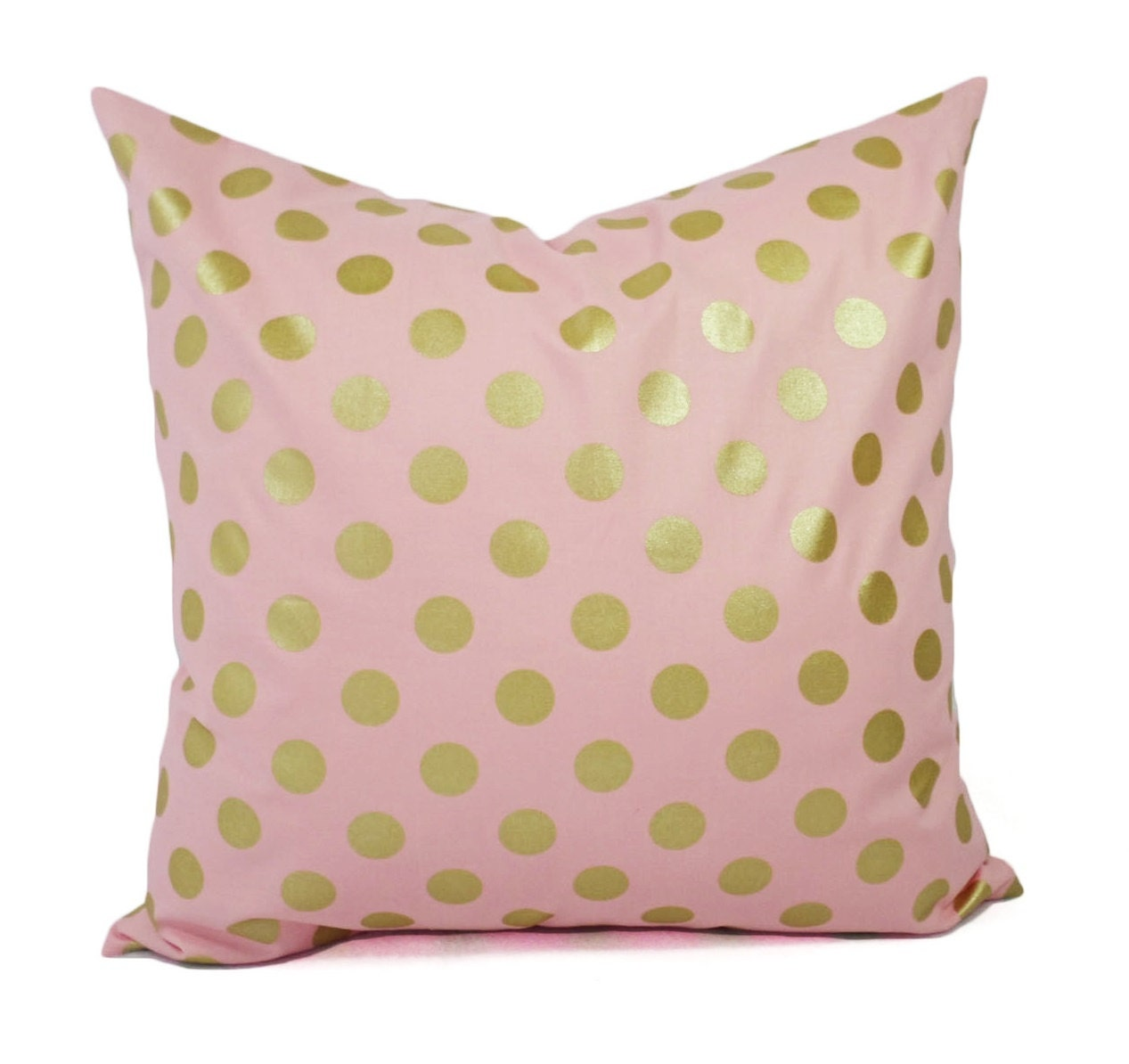 Two Metallic Gold Pillow Covers Pink and Gold Pillow Cover