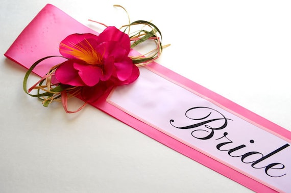 Hawaiian Bridal Shower Sash Maui Bachelorette