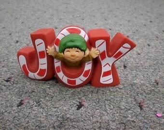 Hallmark Cards JOY Candy Cane Elf Christmas Figurine So Cute Elves