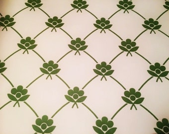 60s vintage swedish wall paper with a lovely floral pattern