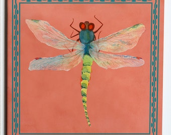 Dragonfly Ceramic Tile Trivet 6x6