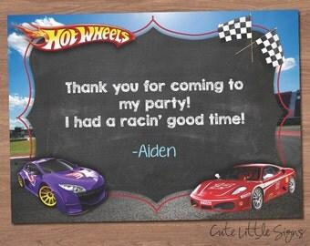 Hotwheels Thank You Digital Card