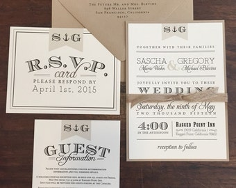 Anchor Vintage Wedding Invitation Suite // Rustic and Vintage // Twine and Burlap // Purchase this Deposit to Get Started