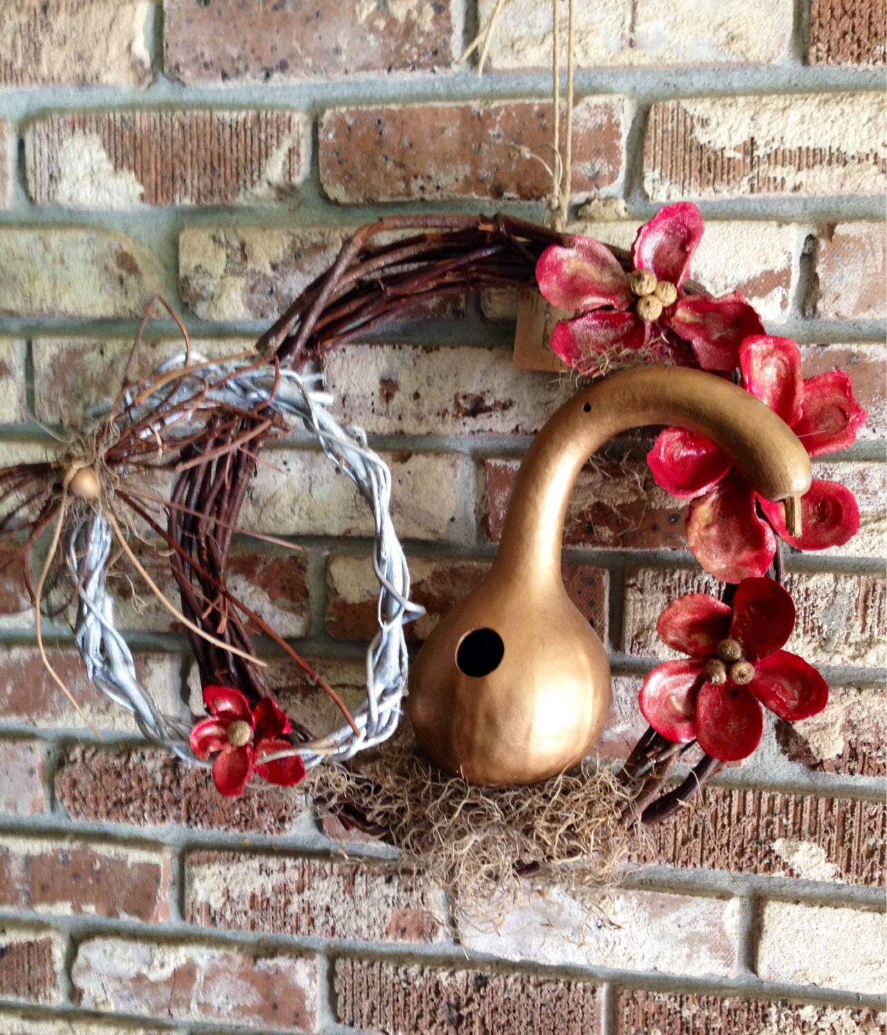 Natural Handmade Christmas Wreath /Wall Hanging