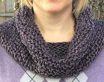 Purple Grey Cowl