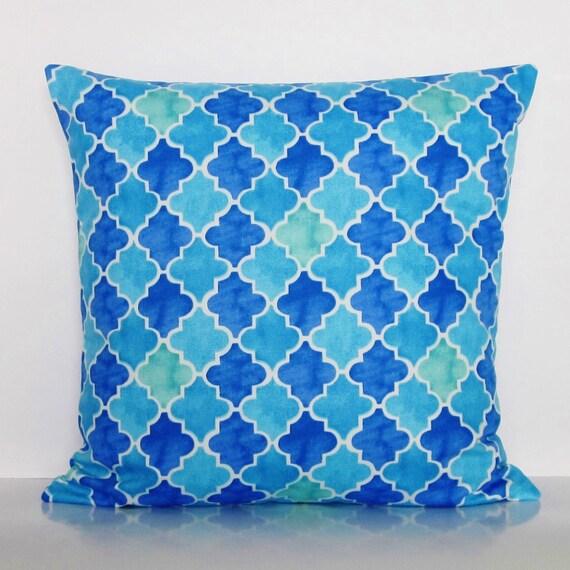 Seafoam Blue Decorative Pillows : Blue Pillow Cover Turquoise Seafoam Spa Green Aqua Decorative